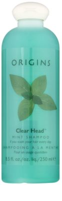 Origins Clear Head® osvěžující šampon s mátou peprnou