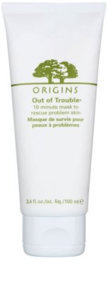 Origins Out Of Trouble® máscara para pele problemática, acne