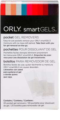 Orly smartGELS Pocket Gel Removers bolsas para remover unhas de gel