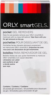 Orly smartGELS Pocket Gel Removers kapsička s tamponkem pro odstranění gelových nehtů