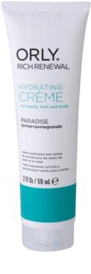 Orly Rich Renewal Paradise crema hidratante para manos, pies y cuerpo