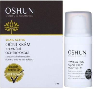OSHUN Snail Active crema reafirmante para contorno de ojos con extracto de baba de caracol