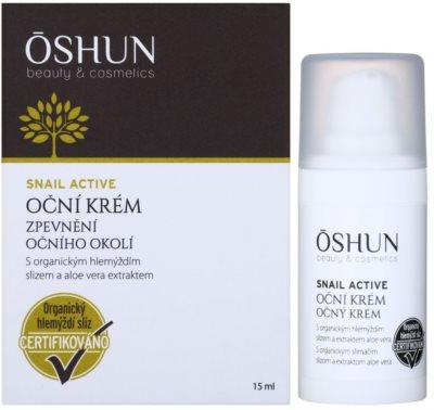 OSHUN Snail Active creme fortificante contorno dos olhos com extrato de caracol