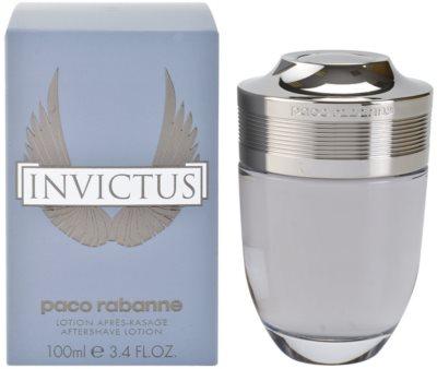 Paco Rabanne Invictus loción after shave para hombre