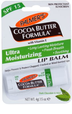 Palmer's Face & Lip Cocoa Butter Formula hydratační balzám na rty SPF 15