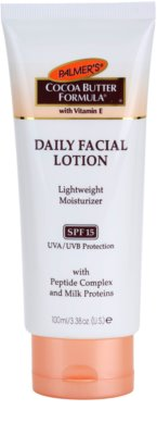Palmer's Face & Lip Cocoa Butter Formula crema hidratante ligera  SPF 15
