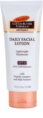 Palmer's Face & Lip Cocoa Butter Formula hidratante leve SPF 15