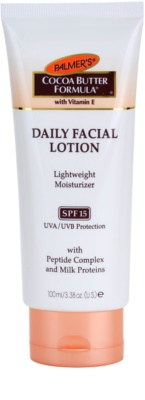 Palmer's Face & Lip Cocoa Butter Formula lahka vlažilna krema SPF 15