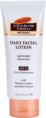 Palmer's Face & Lip Cocoa Butter Formula lehký hydratační krém SPF 15