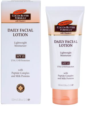 Palmer's Face & Lip Cocoa Butter Formula lahka vlažilna krema SPF 15 1