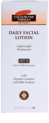 Palmer's Face & Lip Cocoa Butter Formula könnyű hidratáló krém SPF 15 2
