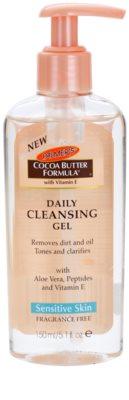 Palmer's Face & Lip Cocoa Butter Formula čisticí olej  pro oči, rty a pleť bez parfemace