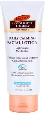 Palmer's Face & Lip Cocoa Butter Formula lahka vlažilna krema za pomiritev kože