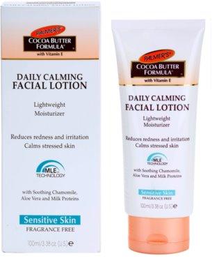 Palmer's Face & Lip Cocoa Butter Formula hidratante leve para apaziguar a pele 1