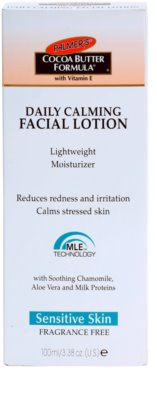 Palmer's Face & Lip Cocoa Butter Formula hidratante leve para apaziguar a pele 2