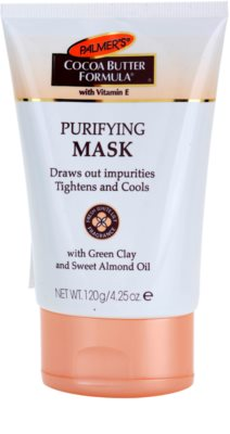 Palmer's Face & Lip Cocoa Butter Formula очищаюча маска для обличчя