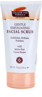 Palmer's Face & Lip Cocoa Butter Formula делікатний пілінг для шкіри