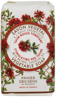 Panier des Sens Red Thyme sabonete de ervas revigorante