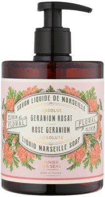 Panier des Sens Rose Geranium folyékony szappan pumpás