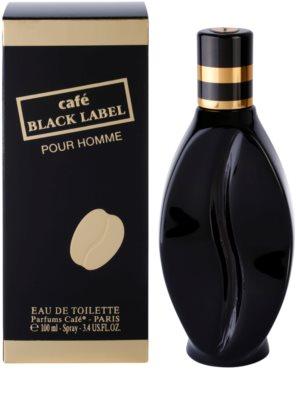 Parfums Café Café Black Label eau de toilette para hombre