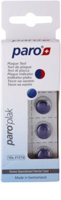 Paro Plak comprimidos para indicar a durabilidade da placa