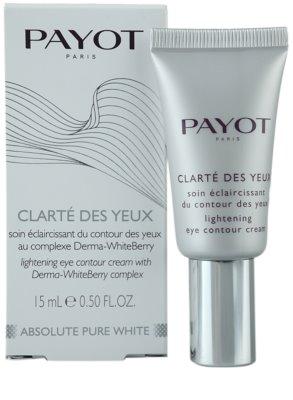 Payot Absolute Pure White роз'яснюючий крем для шкріри навколо очей 2