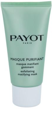 Payot Expert Pureté máscara facial de limpeza esfoliante para pele mista e oleosa