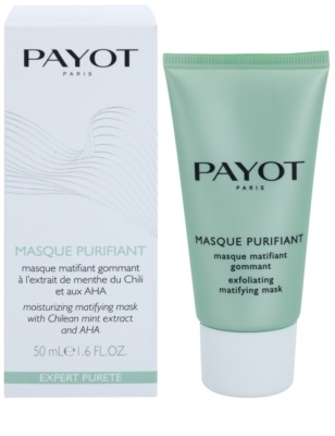 Payot Expert Pureté mascarilla facial exfoliante limpiadora  para pieles mixtas y grasas 1