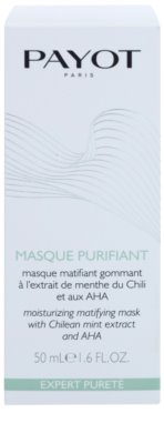 Payot Expert Pureté máscara facial de limpeza esfoliante para pele mista e oleosa 2