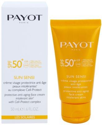 Payot Sun Sensi crema protectora facial antiedad para pieles intolerantes SPF 50+ 1