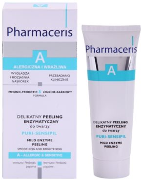 Pharmaceris A-Allergic&Sensitive Puri-Sensipil peeling enzimático para pele sensível 1