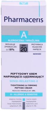 Pharmaceris A-Allergic&Sensitive Sensi-Relastine-E učvrstitvena krema z učinkom liftinga za občutljivo in alergično kožo 3