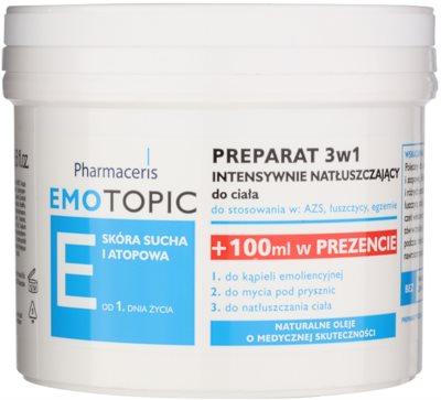 Pharmaceris E-Emotopic intenzív olajos ápolás testre felnőtteknek és gyermekeknek 3 az 1-ben