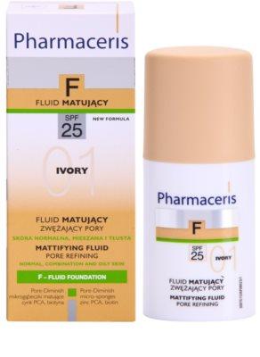 Pharmaceris F-Fluid Foundation Make-up lichid matifiant SPF 25 2