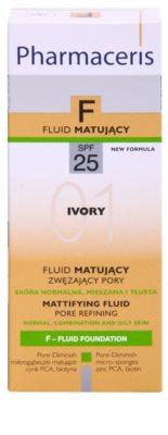Pharmaceris F-Fluid Foundation maquillaje fluido matificante  SPF 25 3