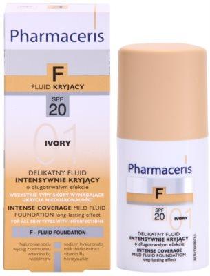 Pharmaceris F-Fluid Foundation intensives, deckendes Make up mit langanhaltendem Effekt SPF 20 2