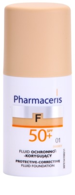 Pharmaceris F-Fluid Foundation maquillaje protector cubre imperfecciones SPF 50+