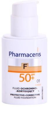 Pharmaceris F-Fluid Foundation védő és fedő make-up SPF 50+ 1