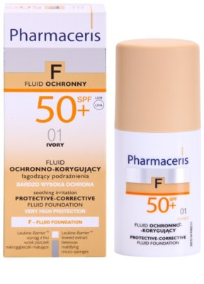 Pharmaceris F-Fluid Foundation védő és fedő make-up SPF 50+ 2