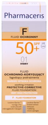 Pharmaceris F-Fluid Foundation védő és fedő make-up SPF 50+ 3