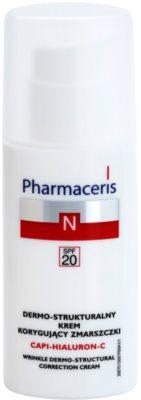 Pharmaceris N-Neocapillaries Capi-Hyaluron-C crema antirid cu efect de refacere a densitatii pielii pentru piele sensibila cu tendinte de inrosire