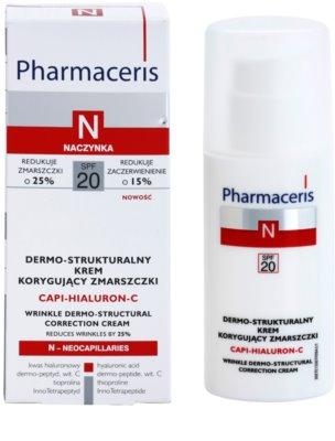 Pharmaceris N-Neocapillaries Capi-Hyaluron-C protivráskový krém obnovující hutnost pleti pro citlivou pleť se sklonem ke zčervenání 2