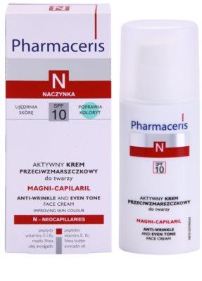 Pharmaceris N-Neocapillaries Magni-Capilaril odżywczy krem przeciwzmarszczkowy SPF 10 2