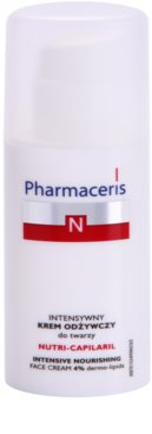 Pharmaceris N-Neocapillaries Nutri-Capilaril Crema nutritiva si calmanta pentru pielea sensibila predispusa la roseata unt de shea