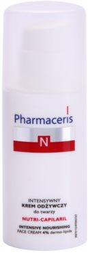 Pharmaceris N-Neocapillaries Nutri-Capilaril nährende und beruhigende Creme für empfindliche Haut mit Neigung zum Erröten mit Bambus Butter