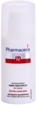 Pharmaceris N-Neocapillaries Nutri-Capilaril подхранващ успокояващ крем за чувствителна кожа, склонна към зачервяване с масло от шеа