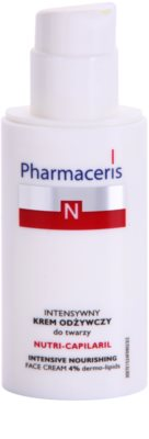 Pharmaceris N-Neocapillaries Nutri-Capilaril подхранващ успокояващ крем за чувствителна кожа, склонна към зачервяване с масло от шеа 1