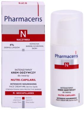 Pharmaceris N-Neocapillaries Nutri-Capilaril подхранващ успокояващ крем за чувствителна кожа, склонна към зачервяване с масло от шеа 2