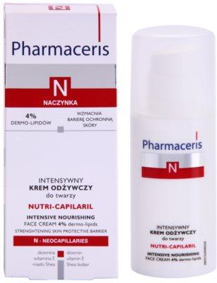 Pharmaceris N-Neocapillaries Nutri-Capilaril Crema nutritiva si calmanta pentru pielea sensibila predispusa la roseata unt de shea 2