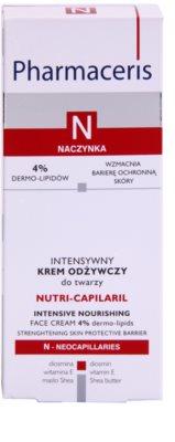 Pharmaceris N-Neocapillaries Nutri-Capilaril Crema nutritiva si calmanta pentru pielea sensibila predispusa la roseata unt de shea 3